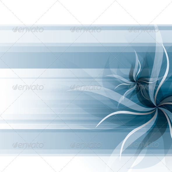 GraphicRiver Vector Flowers Background 4073728