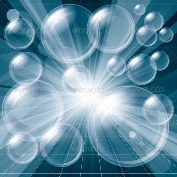 GraphicRiver Transparent Bubbles Background 4073740