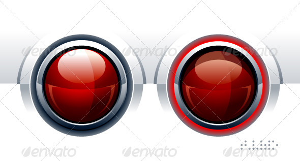 GraphicRiver Two Red Glossy Buttons 4073831