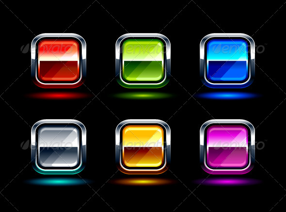 GraphicRiver Set of Glossy Buttons 4073845