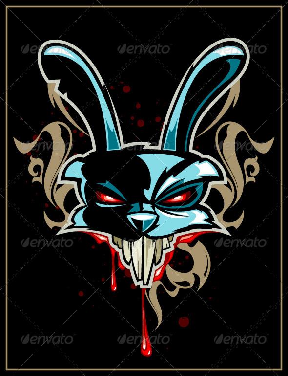 GraphicRiver Rabbit Head 4075615
