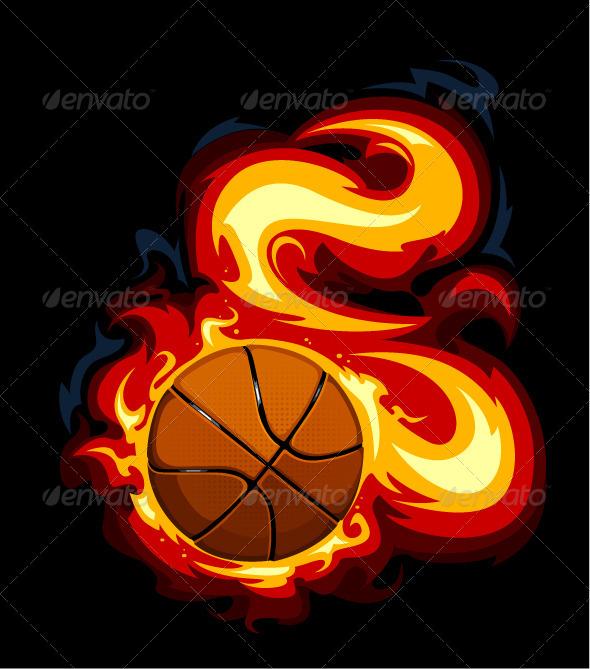 GraphicRiver Burning Basketball 4076825