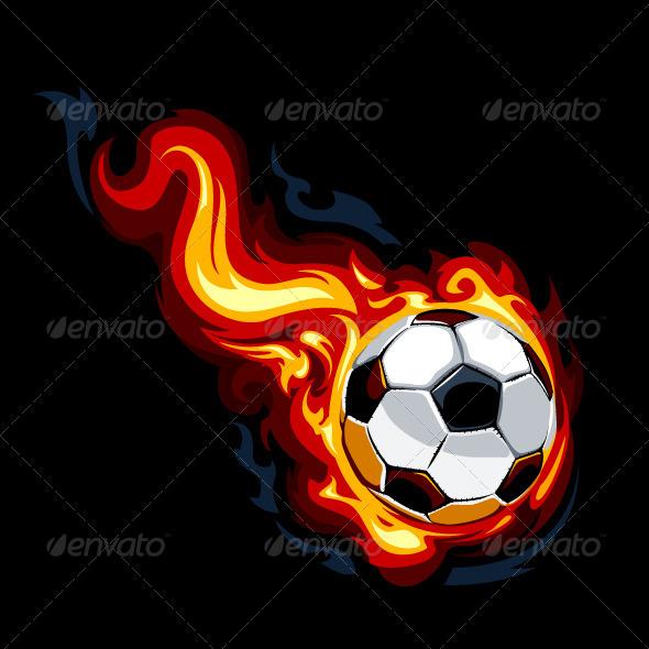 GraphicRiver Burning Soccer Ball 4077088