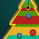 Christmas Knitted Tree Badge - GraphicRiver Item for Sale