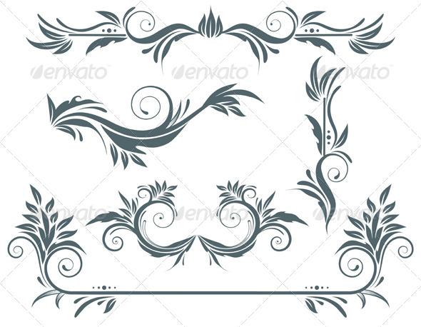GraphicRiver Floral Decorative Elements 4077491