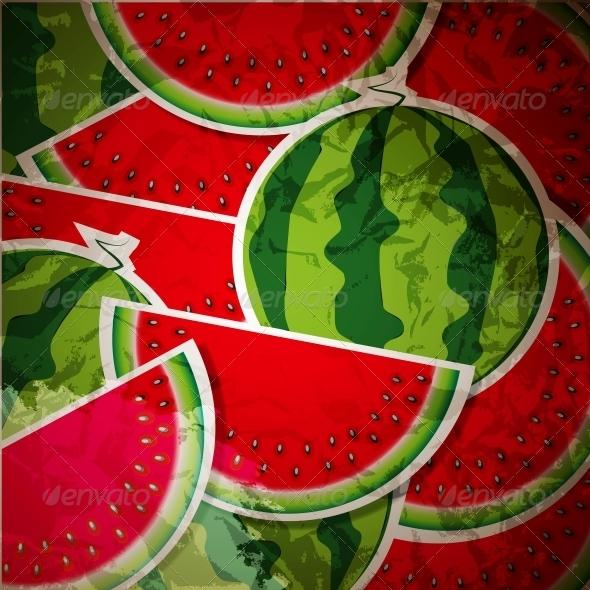 GraphicRiver Watermelon Background 4078849