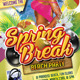 Colorful Spring Break Beach Party Flyer - GraphicRiver Item for Sale