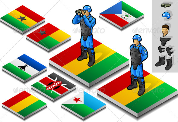 GraphicRiver Isometric International Peacekeeper Observer 4081554