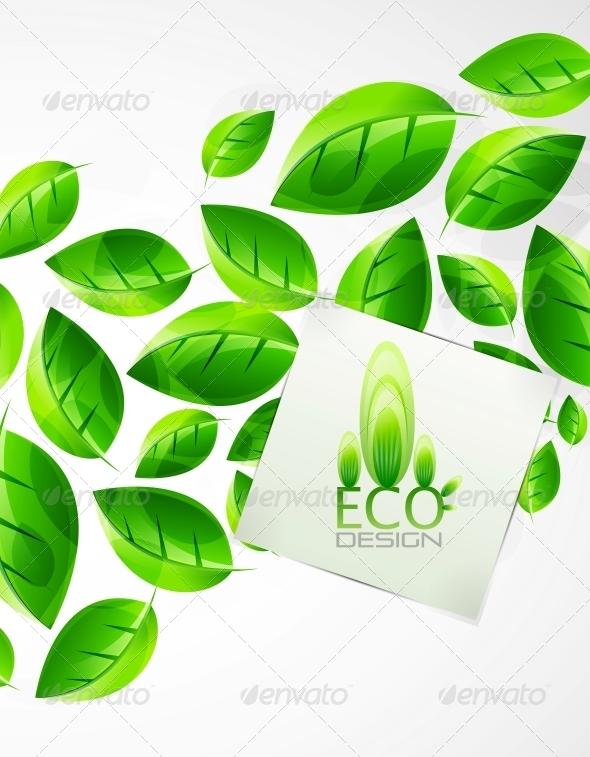 GraphicRiver Nature Green Leaf Background 4081687