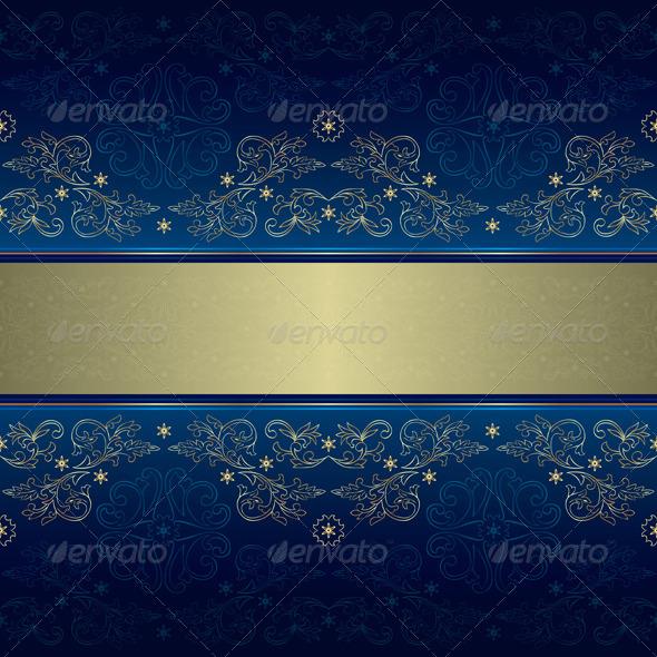 Blue Vintage Pattern » Dondrup.com