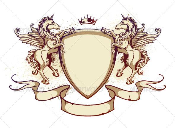 GraphicRiver Vintage Horse on Shield 4083166