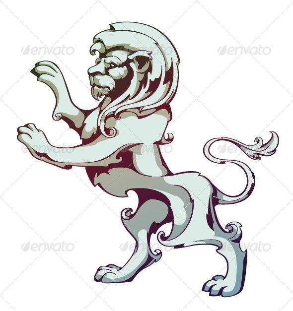 GraphicRiver Vintage Lion 4083198