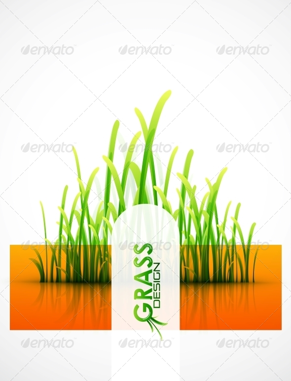 GraphicRiver Vector Grass Background 4083398