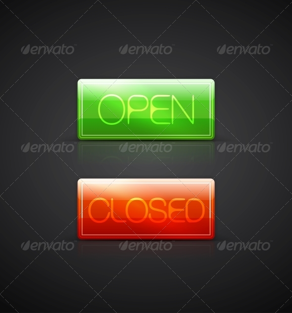 GraphicRiver Open Close Glass Plates 4083409