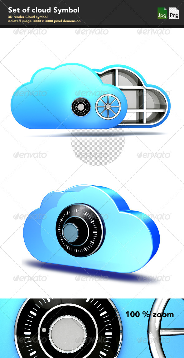 GraphicRiver Cloud Symbol 4083894