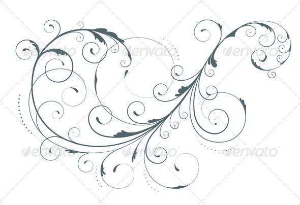 GraphicRiver Floral Decorative Element 4085125