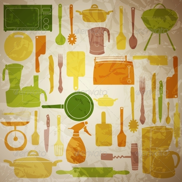 GraphicRiver Vector Illustration of Kitchen Tools for Cooking 4086254