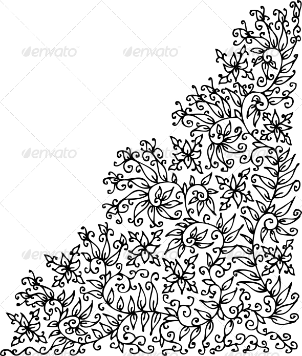 GraphicRiver Refined Floral vignette XXIV 4087572