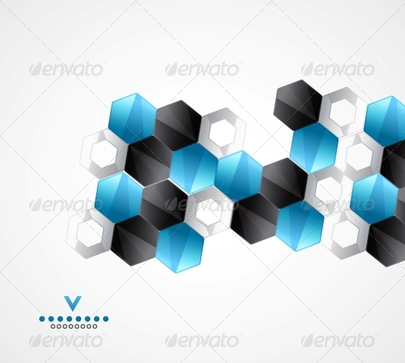 GraphicRiver Modern Hexagons Geometrical Design Template 4089958