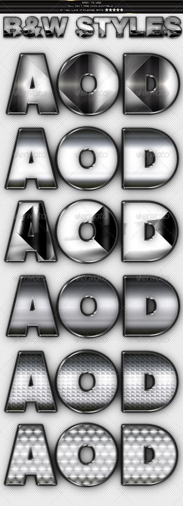 GraphicRiver Metal & Chrome Styles 4091583