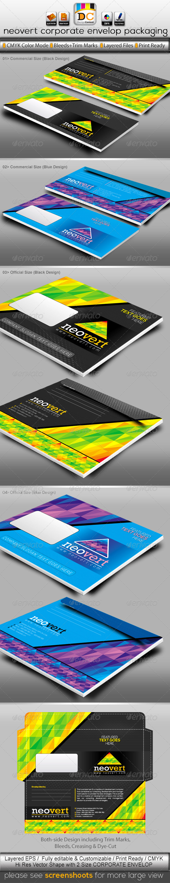 GraphicRiver NeoVert Official Envelop Packaging 4094077