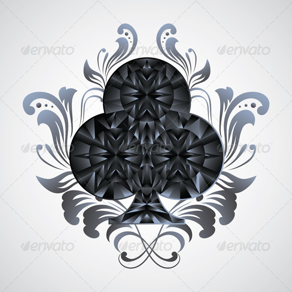 GraphicRiver Ornament Clubs 4094885