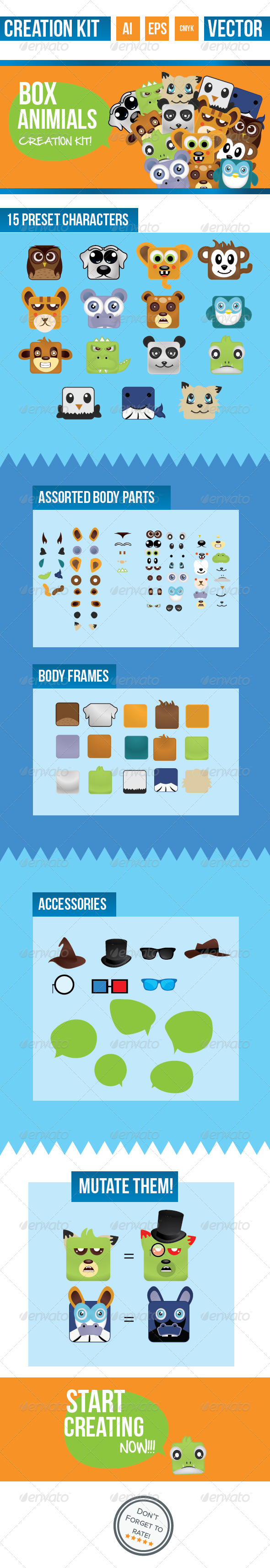 GraphicRiver Box Animal Creation Kit 4097226