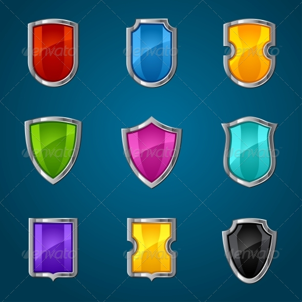 GraphicRiver Set of Shield Icons Symbols and Signs 4101257
