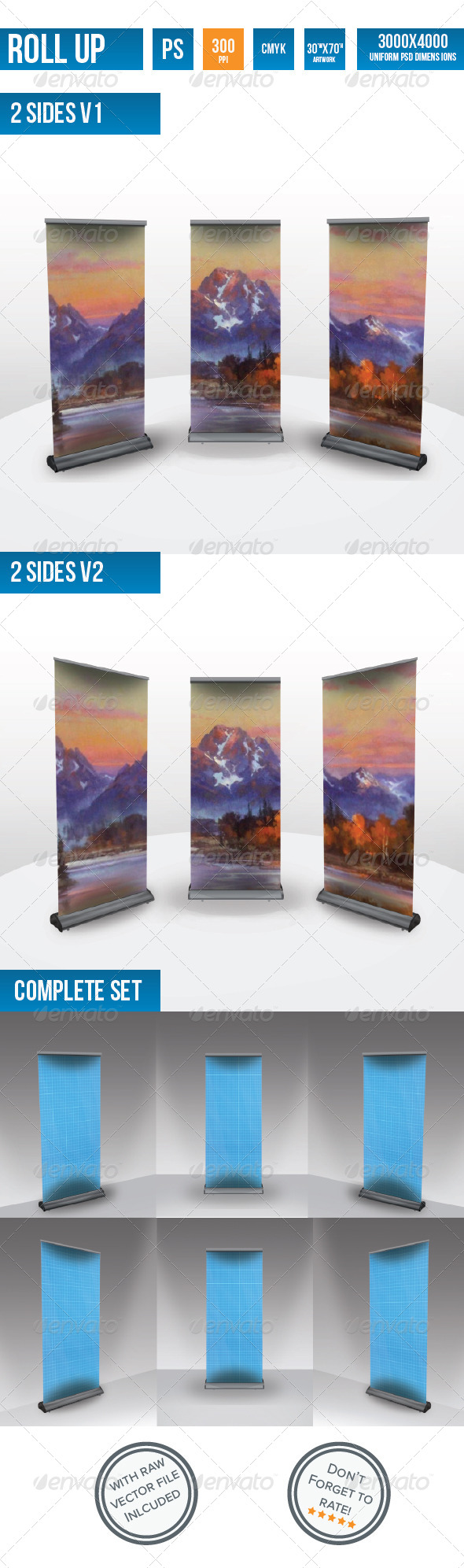 GraphicRiver Roll Up Banner Mock Up s 4101629