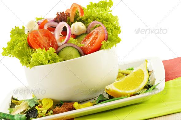 PhotoDune Vegetable salad bowl isolated on white 4101969