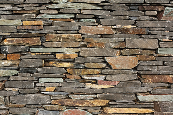 PhotoDune new build flush dry stone wall 4102020