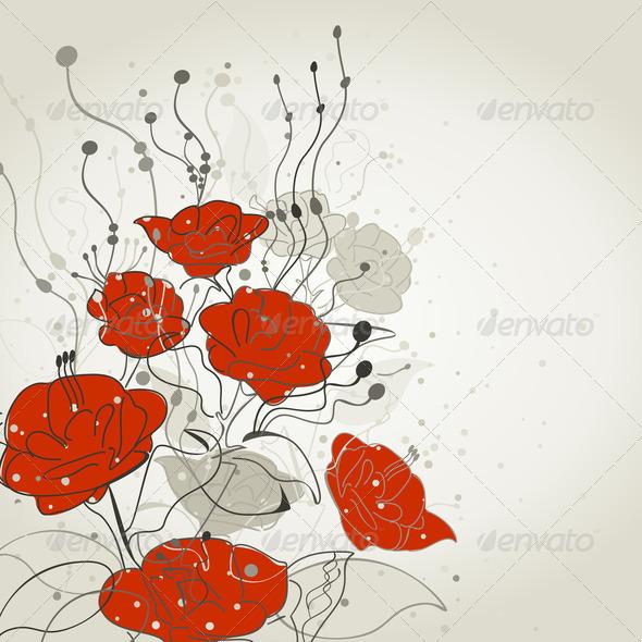 PhotoDune Red flower 4102217
