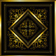 Gold Frame with Openwork Ornament - GraphicRiver Item for Sale