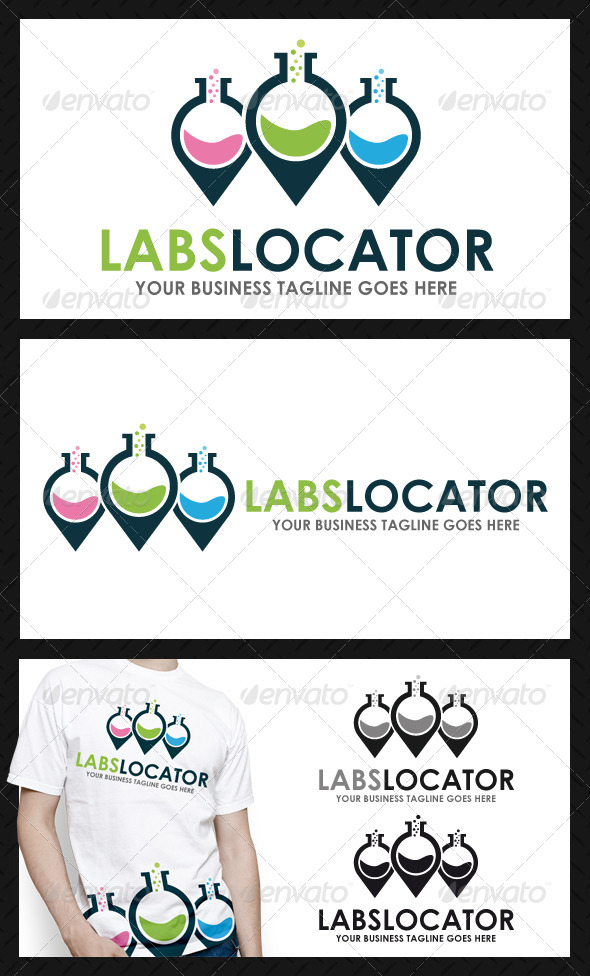 GraphicRiver Lab Locator Logo Template 4102663