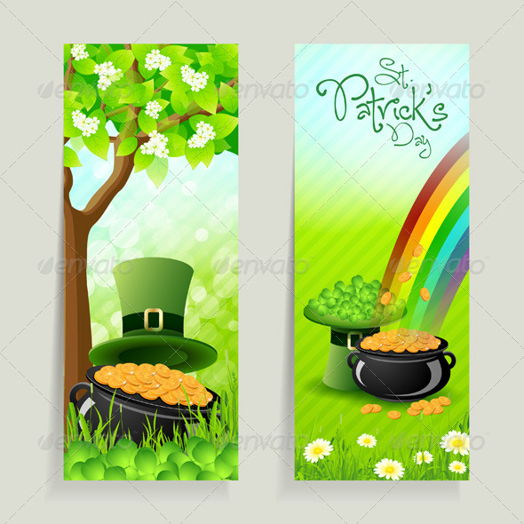 GraphicRiver Set of St Patricks Day Cards 4105141