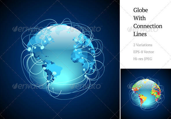 GraphicRiver Globe With Connections 4107568