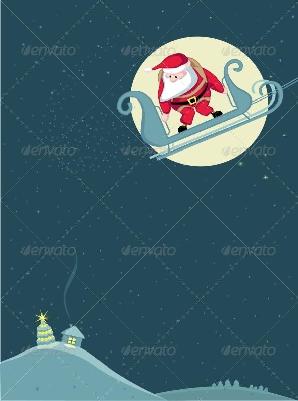 GraphicRiver Santa Skydiving 4108200