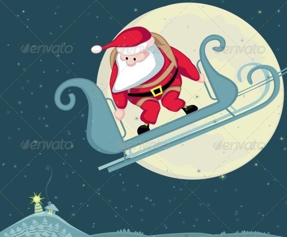 GraphicRiver Santa Skydiving 4108201