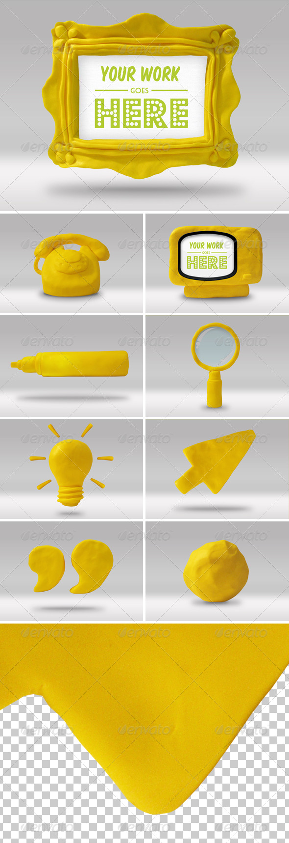 GraphicRiver Set of 9 Handmade High-res Play Doh Icons 4114429