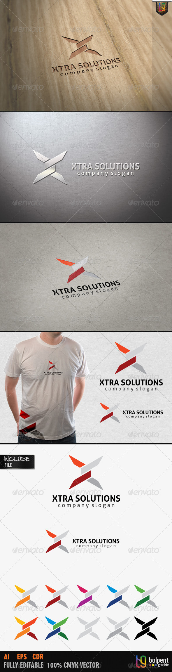 GraphicRiver Xtra Solutions Logo Template 4115391