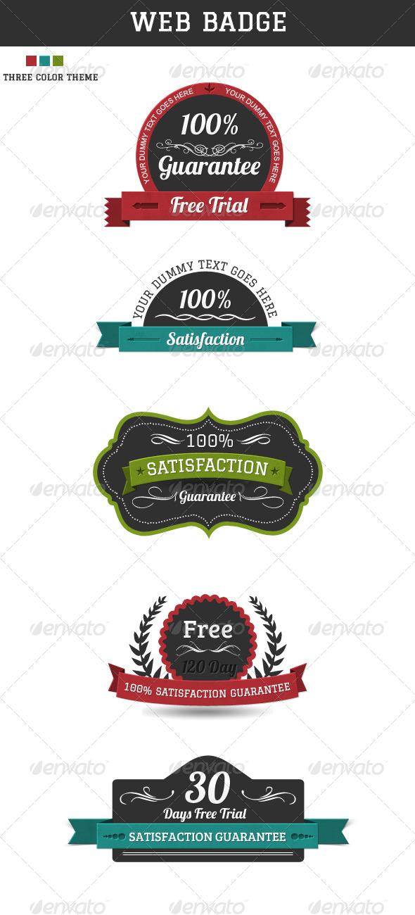 GraphicRiver Web Badges 4117165