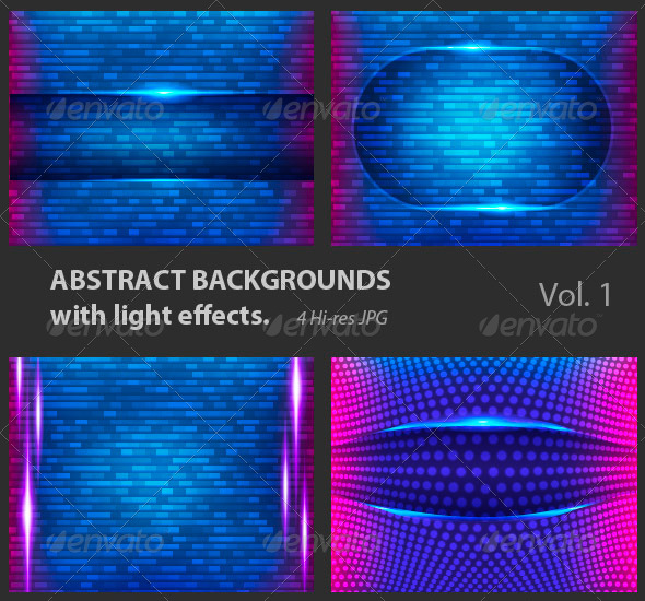 GraphicRiver Abstract Backgrounds with Light Effects 4117989
