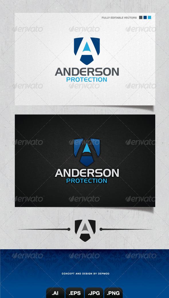 GraphicRiver Anderson Protection Logo 4051812