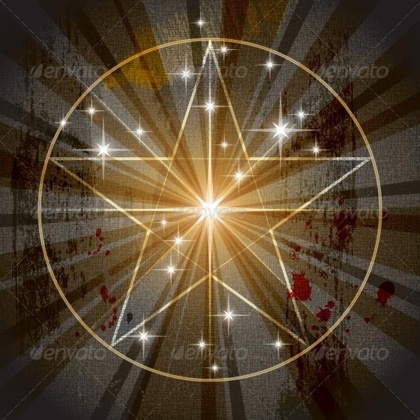 GraphicRiver Ancient Mystic Pentagram 4121496