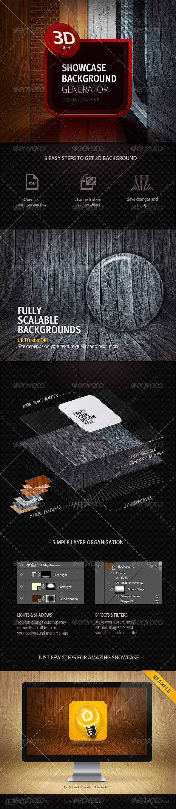 GraphicRiver 3D Showcase Background Generator 4122381