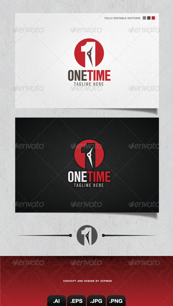 GraphicRiver One Time Logo 4054793