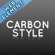 Carbon Style Web Element - GraphicRiver Item for Sale