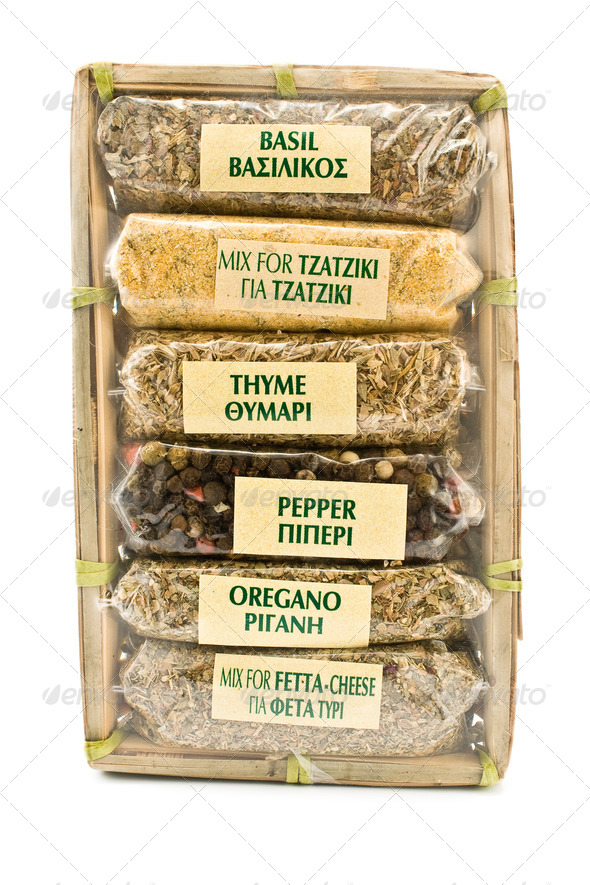 PhotoDune Different spices in cellophane package 4133262