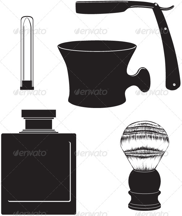 GraphicRiver Classic Shaving Vector Set 4065393