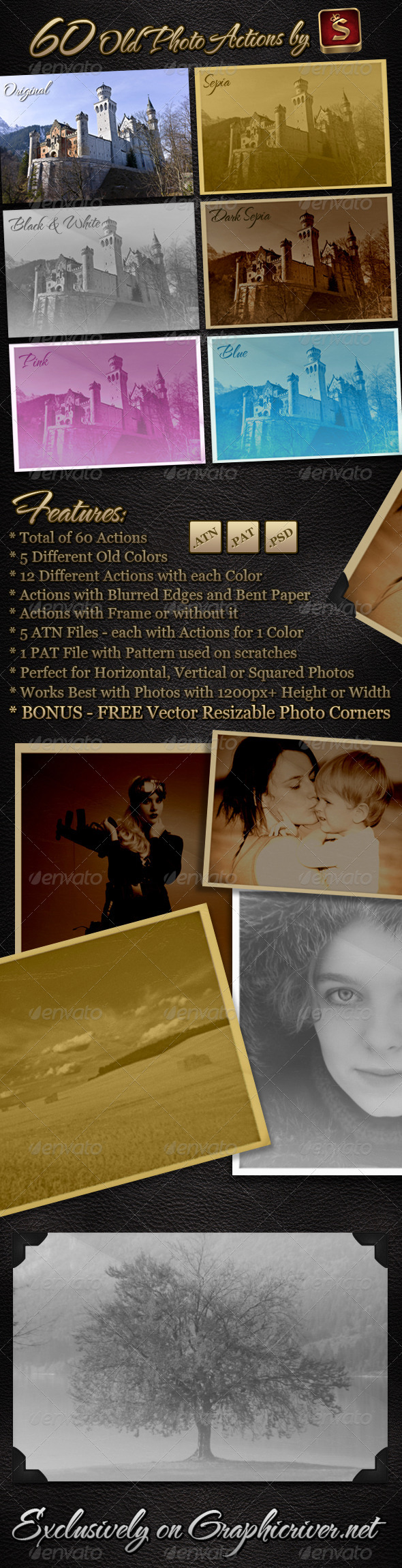 GraphicRiver 60 Old Photo Actions 447619